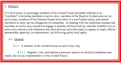 Uniform rules from DOD Political Policy2