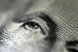dollar bill washington's eye