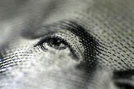 dollar bill washington's eye
