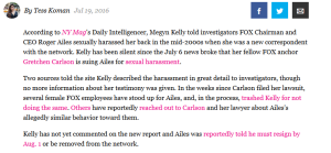 Megan Kelly Sexual Harrassment Claim